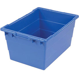 Quantum Cross Stack Nest Tub Tub2417-12-23-3/4 X 17-1/4 X 12 Blue-pkg Qty 6 - 603121bl - Storage And Shelving Bins Totes And Containers Containers Nest And Stack 603121BL
