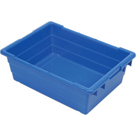 Quantum Cross Stack Nest Tub Tub2417-8-23-3/4 X 17-1/4 X 8 Blue-pkg Qty 6 - 603120bl - Cabinets & Storage Containers-nest & Stack 603120BL
