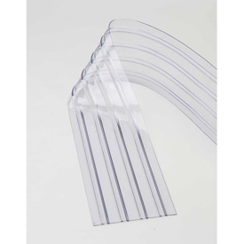 """Material Handling Dock And Truck Equipment Doors Strip And Curtain - 786cp15 - Replacement 12"""" X 7' Scratch Resistant Ribbed Clear Strip For Strip Curtains 786CP15"""