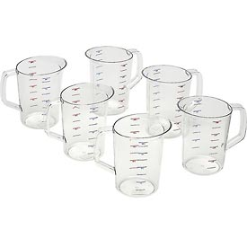 Foodservice And Appliances Food Preparation Measuring Cups And Spoons - B55252 - Rubbermaid Commercial Fg321800-measuring Cup; Bouncer; 4 Quart; Clear Polycarbonate B55252