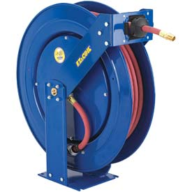"Tools And Instruments Hose And Cord Reels General Purpose Low Pressure Airwater - B584676 - Safety Series Spring Rewind Hose Reel For Air/water: 1/2"" .; 100' Hose; 300 Psi B584676"