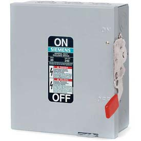 Electrical And Lighting Safety Switches Heavy Duty Fused - B539303 - Siemens Gf323n Safety Switch 100a; 3p; 240v; 4w; Fused; Gd; Type 1 B539303