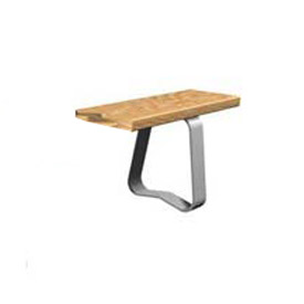 Foodservice And Appliances Stainless Steel Work Benches Stainless Steel Stands - B490013 - Stainless Steel Trapezoid For Phenolic Locker Benches Each B490013