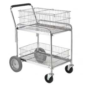 Material Handling Trucks And Carts Mail And Filing Carts - 168029 - Standard Mail And Office File Cart 200 Lb. Capacity 168029