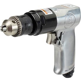 "Tools And Instruments Drills Drivers And Bits Core Drills - B982776 - Sunex Tools Sx223; 3/8"" Pistol Air Drill; 0.35 Hp; 1800 Rpm; 4 Cfm; Reversible; 90 Psi B982776"