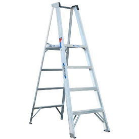 Janitorial And Maintenance Ladders Aluminum Step Ladders - 954420 - Werner 4' Type 1a Aluminum Platform Ladder-p374 954420