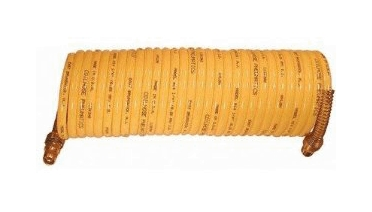 3/8 X 25ft Coiled Air Hose - Coil-n38-25 - Plumbing & Pumps Hoses & Fittings Fire Hoses COIL-N38-25