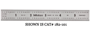 """Mitutoyo 6"""" (16r) Rigid Steel Rule - Mti182-102 - Hardware Accessories>inspection Tools Rules/scales Mitutoyo MTI182-102"""