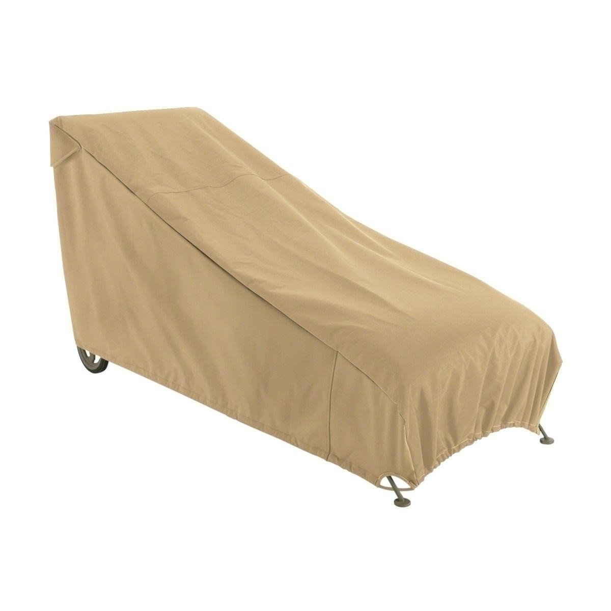 Compare chaise lounge cover with elastic hem cord for Chaise lounge cover