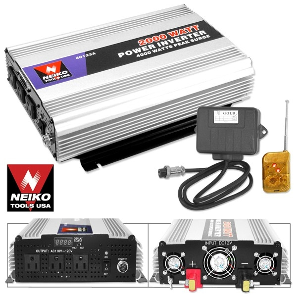 2000 Watt- 4000 Watt Peak Power Inverter W/ Remoto Control-nk - 40123a - Repair Specialty Tools Automotive 40123A