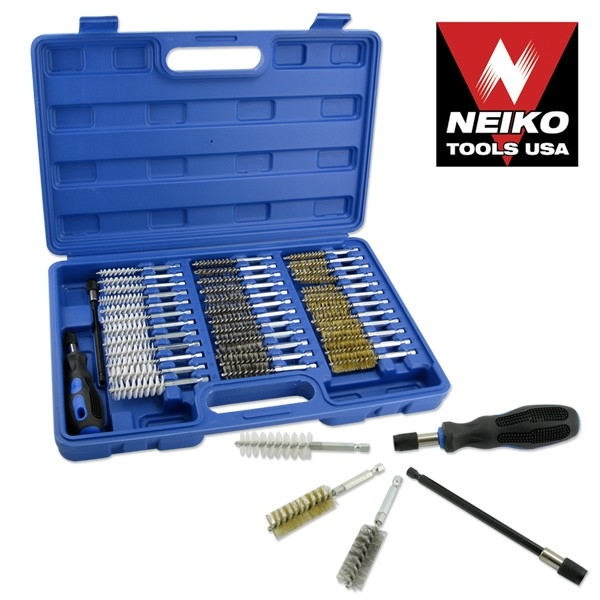 38 Pcs Industrial Quality Wire Brush Set With Extra Long Reach-nk - 00325a - Tools And Instruments Hardware Wire Brushes 00325A