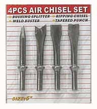 4 Pcs Air Chisel Set - 4pairchs - Miscellaneous Punch & 4PAIRCHS